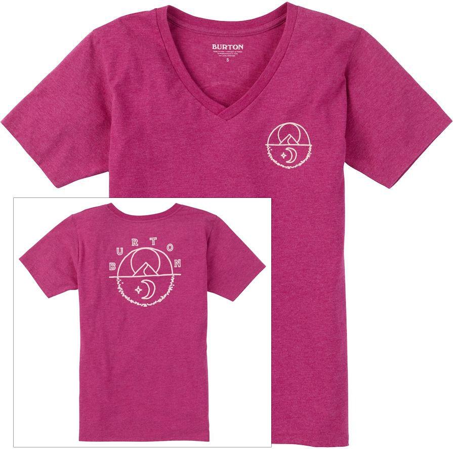 t-shirt damski BURTON TARRYTOWN V NECK ANEMONE HEATHER