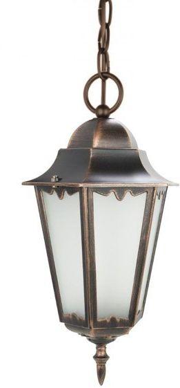 Lampa zewnętrzna aluminiowa wisząca Retro Classic II K 1018/1/D H miedź