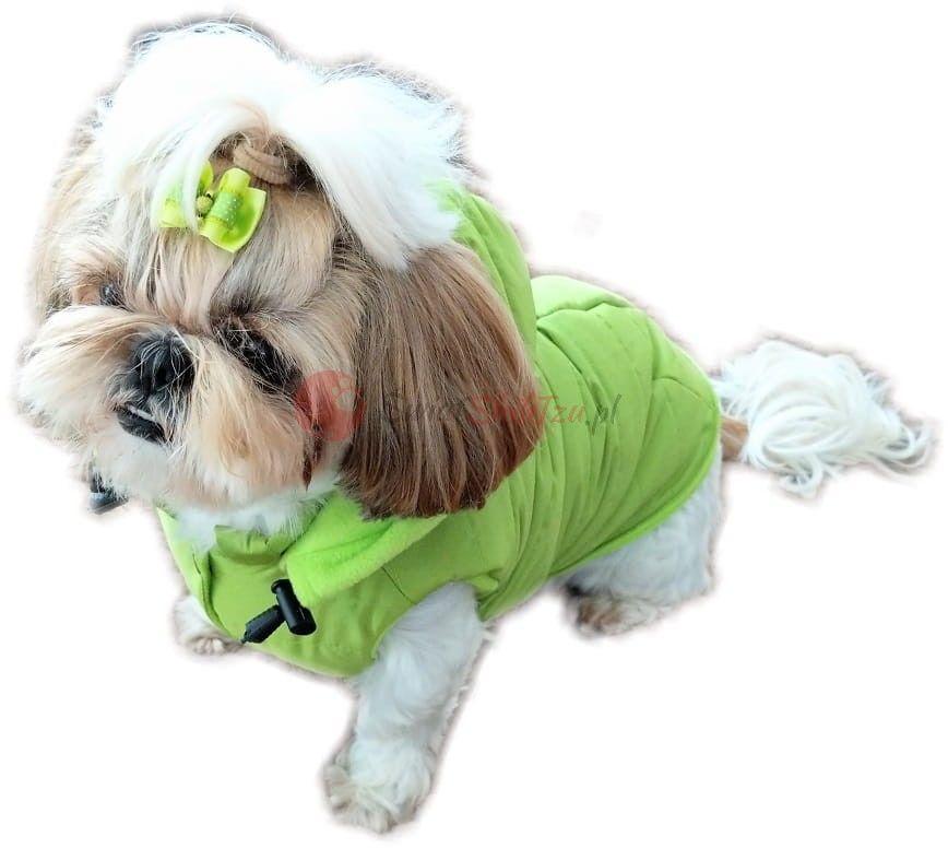 Ręcznie szyta kurtka sportowa zielona