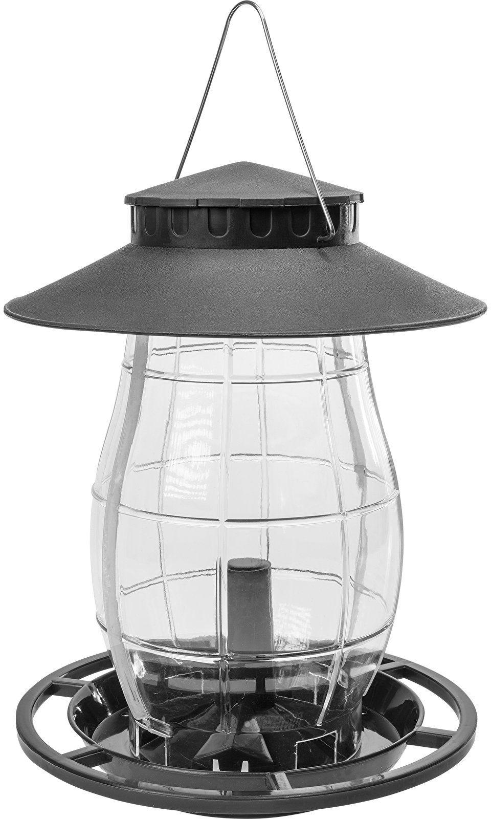 Karmnik dla ptaków - plastikowy, czarny 21x21x27cm
