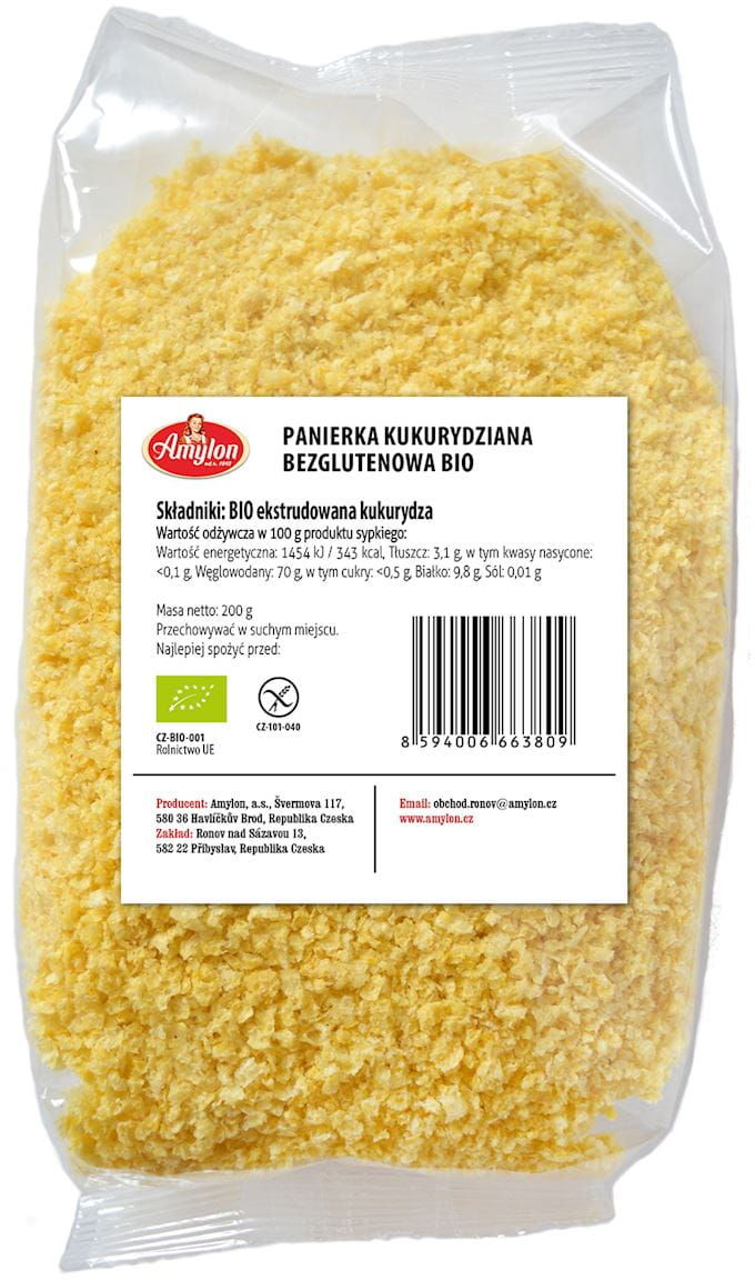 Panierka kukurydziana bezglutenowa bio 200 g - amylon