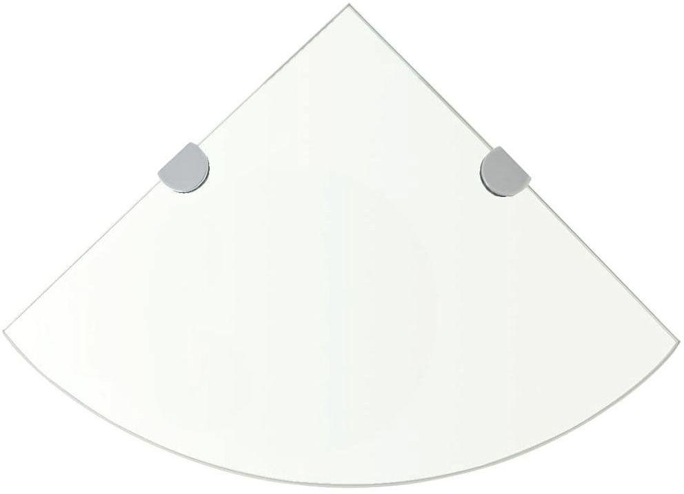 Półka narożna ze szkła hartowanego Gaja 3X
