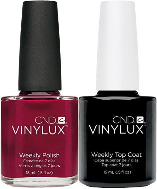 CND Vinylux Red Baroness plus Top Coat 15 ml, 1 opakowanie (1 x 30 ml)