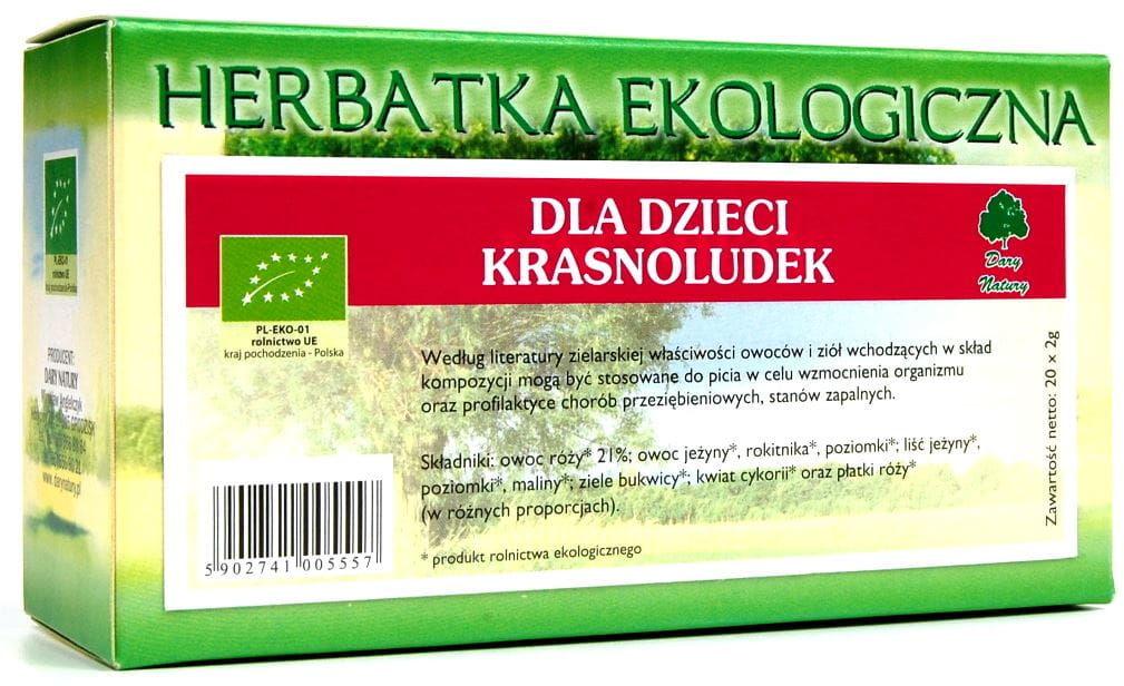 Herbatka dla dzieci krasnoludek BIO - Dary Natury - 25x2g