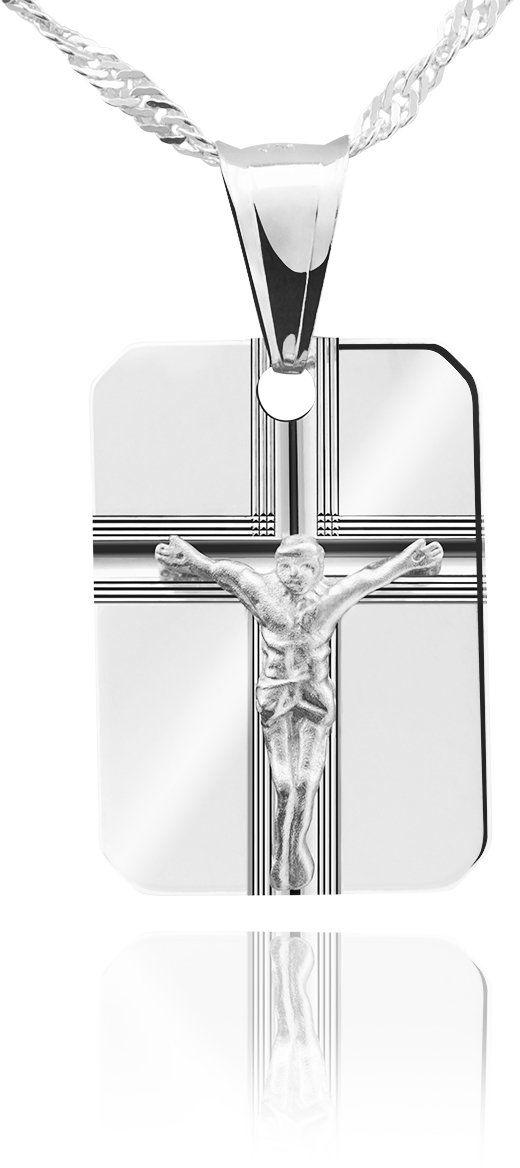Srebrny medalik z Chrystusem pr. 925