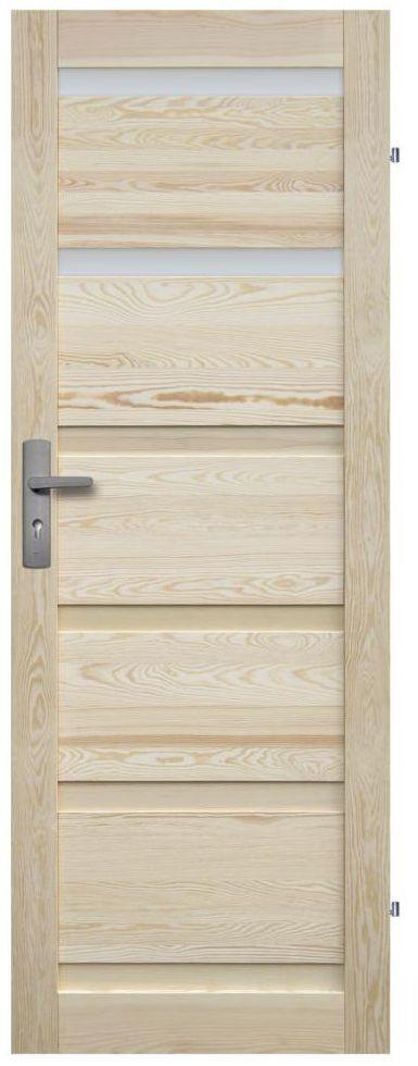 Skrzydło drzwiowe drewniane łazienkowe Genewa 70 Prawe Radex