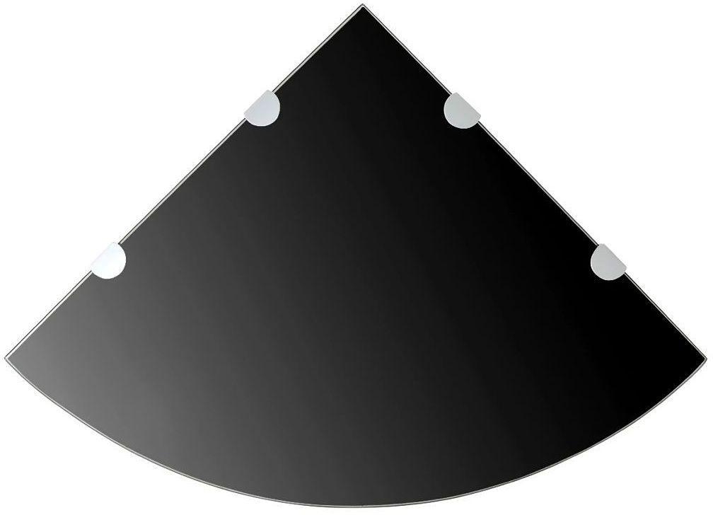 Czarna półka z hartowanego szkła - Gaja 4X