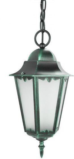 Lampa zewnętrzna aluminiowa wisząca Retro Classic II K 1018/1/D H zielony