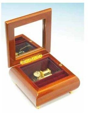 Pudełko na biżuterię kwadratowe z szarotką
