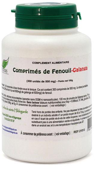 Przyprawy i zioła - Tabletki galgant z koprem włoskim 500mg/300 sztuk, - 21013