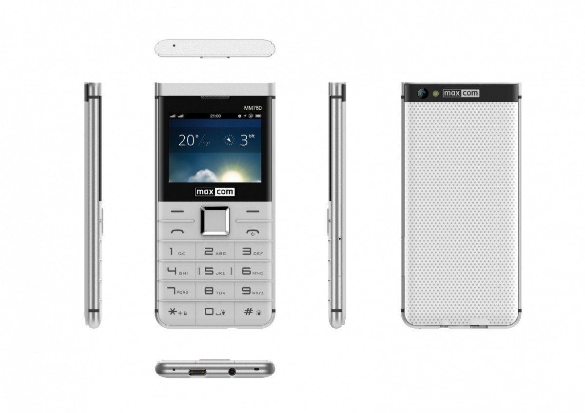 Maxcom Telefon MM 760 Dual Sim Biały