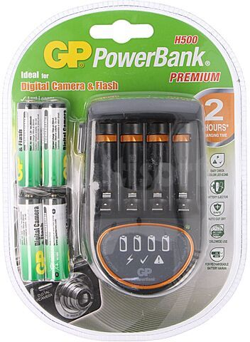 Ładowarka GP do akumulatorów Ni-MH Rozmiar AA, AAA Wtyczka EU