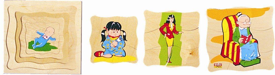 edufun EF 11610  drewniana zabawka  puzzle  Grand Mama