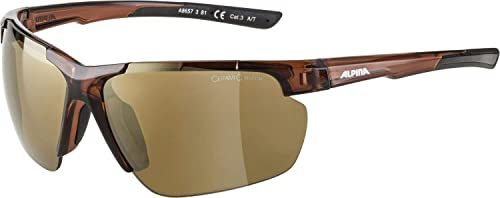 ALPINA Unisex - Dorośli, DEFEY HR Okulary sportowe, brown transparent matt/gold, One Size
