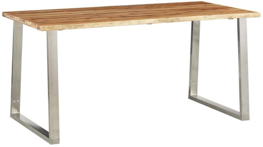 Stół industrialny z akacji Eluwin 2X  brązowy