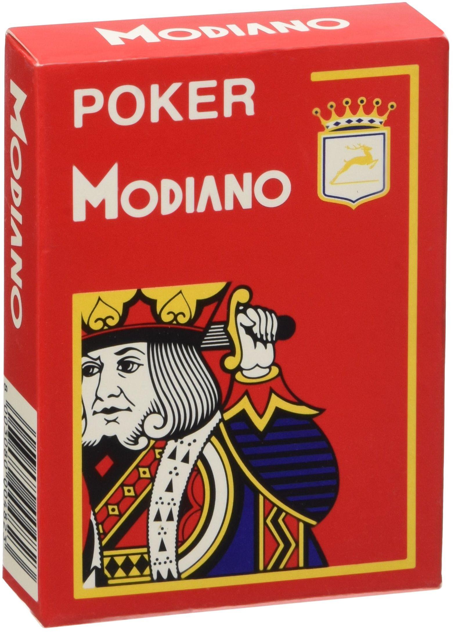 Modiano Karty do gry 482 - Poker Cristallo, 4 wskaźniki czerwone