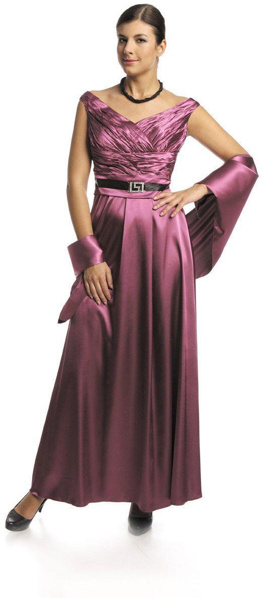 FSU733 Suknie wizytowe Sukienka AMARANT CIEMNY
