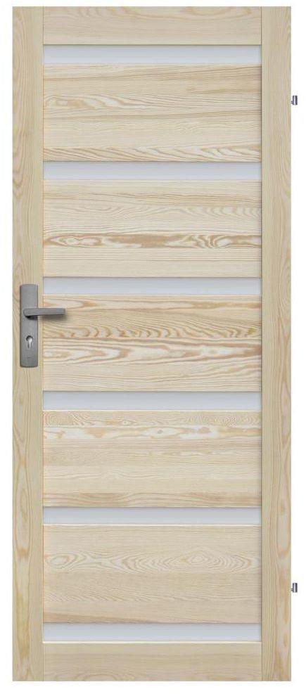 Skrzydło drzwiowe drewniane pokojowe Genewa 70 Prawe Radex