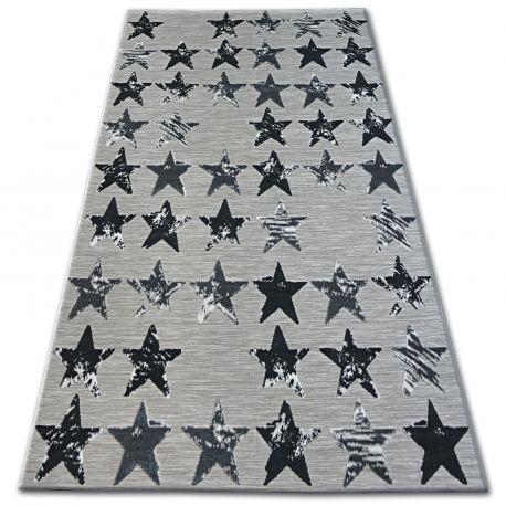 Dywan LISBOA 27219/956 Gwiazdy Gwiazdki Czarny 80x150 cm