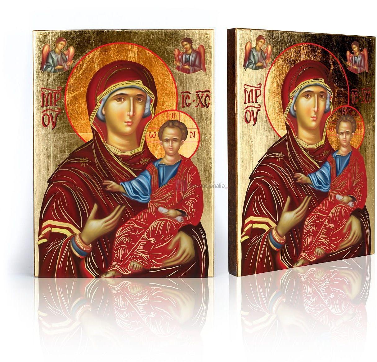 Ikona religijna Matka Boża z Dzieciątkiem z certyfikatem - 17x23cm