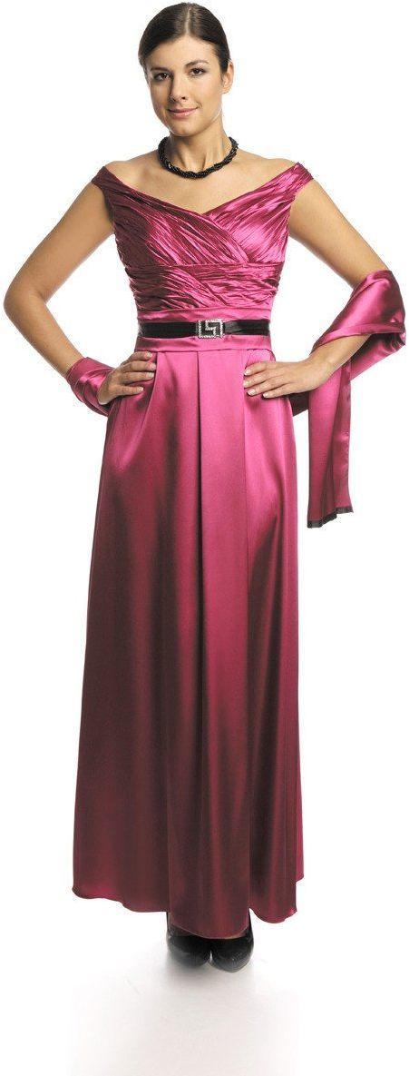FSU733 Suknie wizytowe Sukienka AMARANT ŚREDNI
