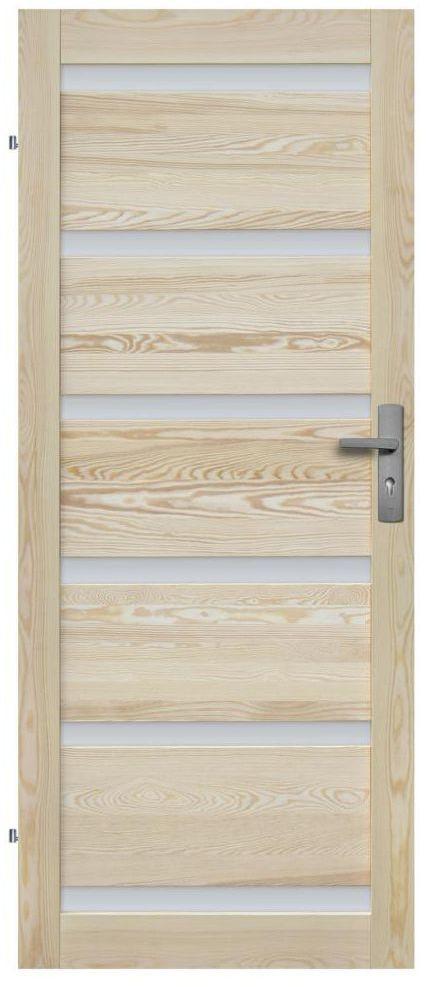 Skrzydło drzwiowe drewniane pokojowe Genewa 80 Lewe Radex