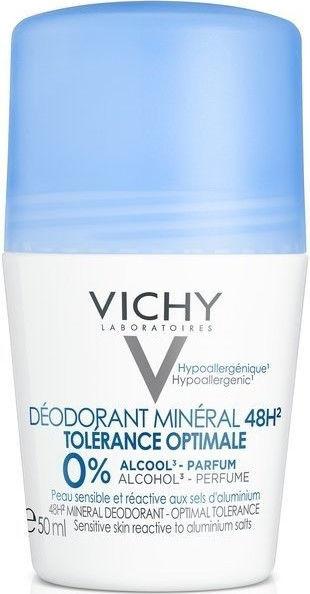 Vichy Dezodorant mineralny Optimal Tolerance 48H Roll-on 50ml