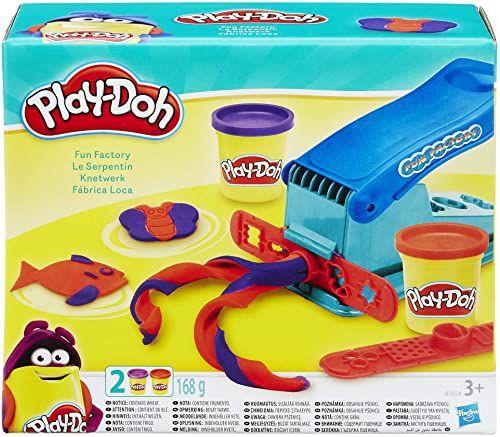 Play-Doh Prasa do zagniatania w zestawie z 2 puszkami plasteliny do fantazyjnej i kreatywnej zabawy