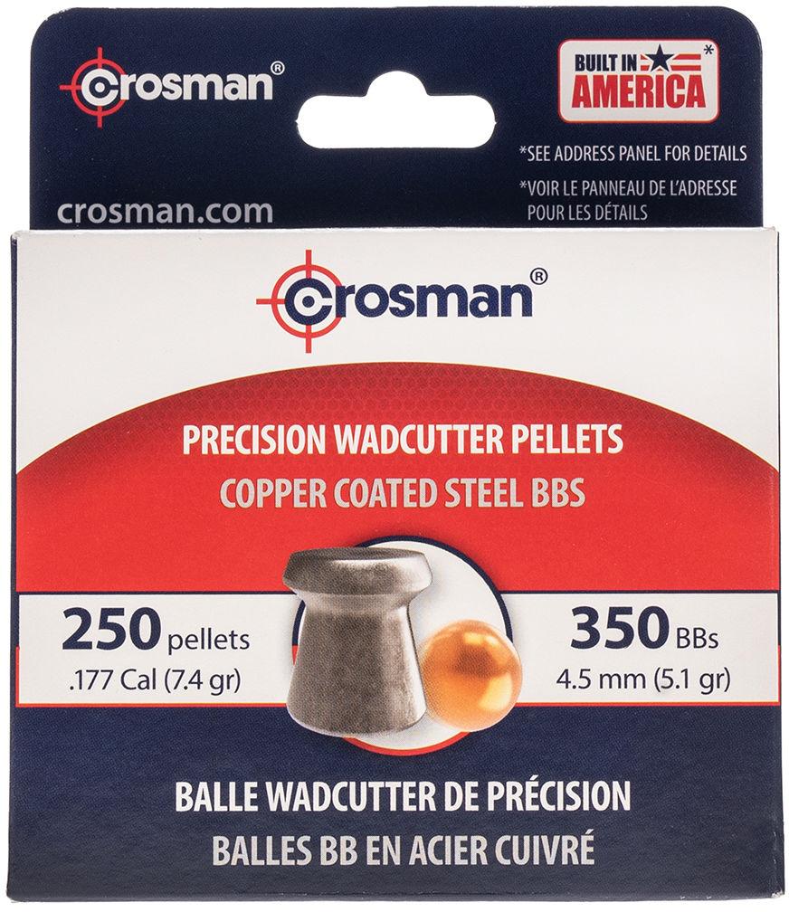 Zestaw śrutów Crosman Wadcutter i Copper Coated BB 4,5 mm 600 szt. (BBPEL)