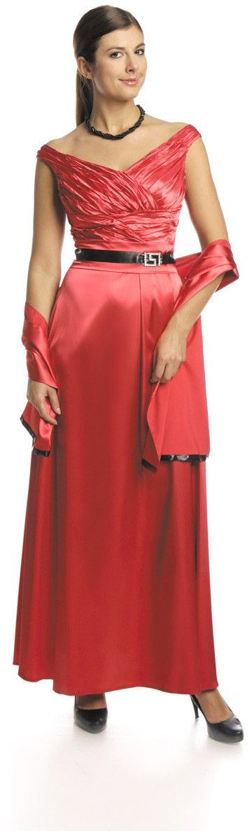 FSU733 Suknie wizytowe Sukienka CZERWONY