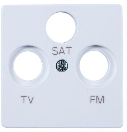 Simon 82 Pokrywa gniazda antenowego RD/TV/SAT biała 82037-30