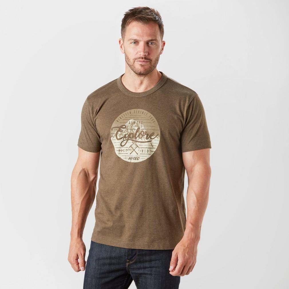 HI-TEC męska koszulka na barek, ciemna czekolada, XL