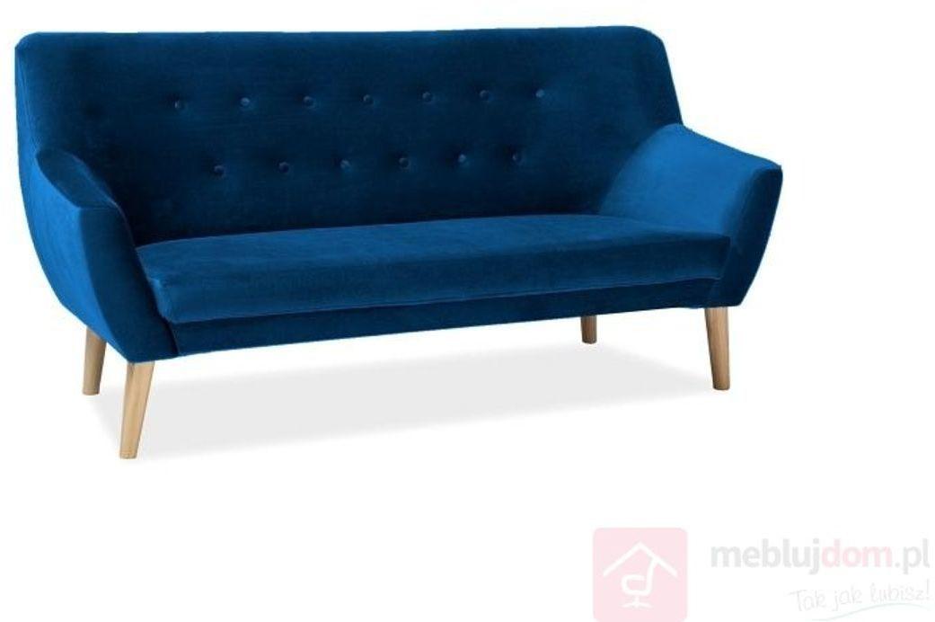 KUPON 10% NA STRONIE  Sofa NORDIC 3 Signal Velvet Bluvel 86 granat