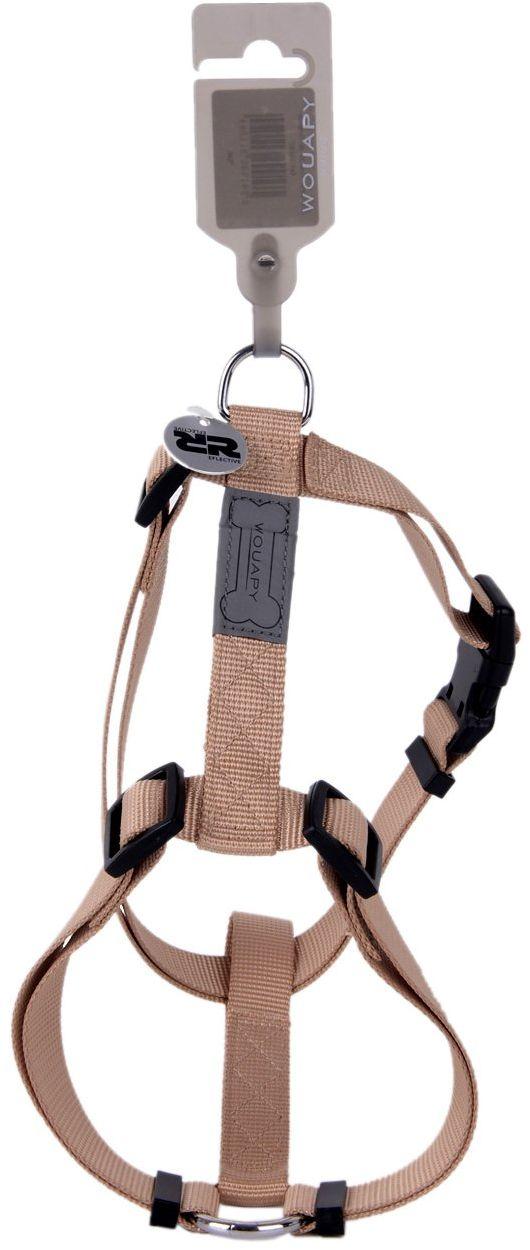 Wouapy Basic Line uprząż dla psa, szerokość 25 mm / klatka piersiowa 63/97 cm, beżowa uprząż