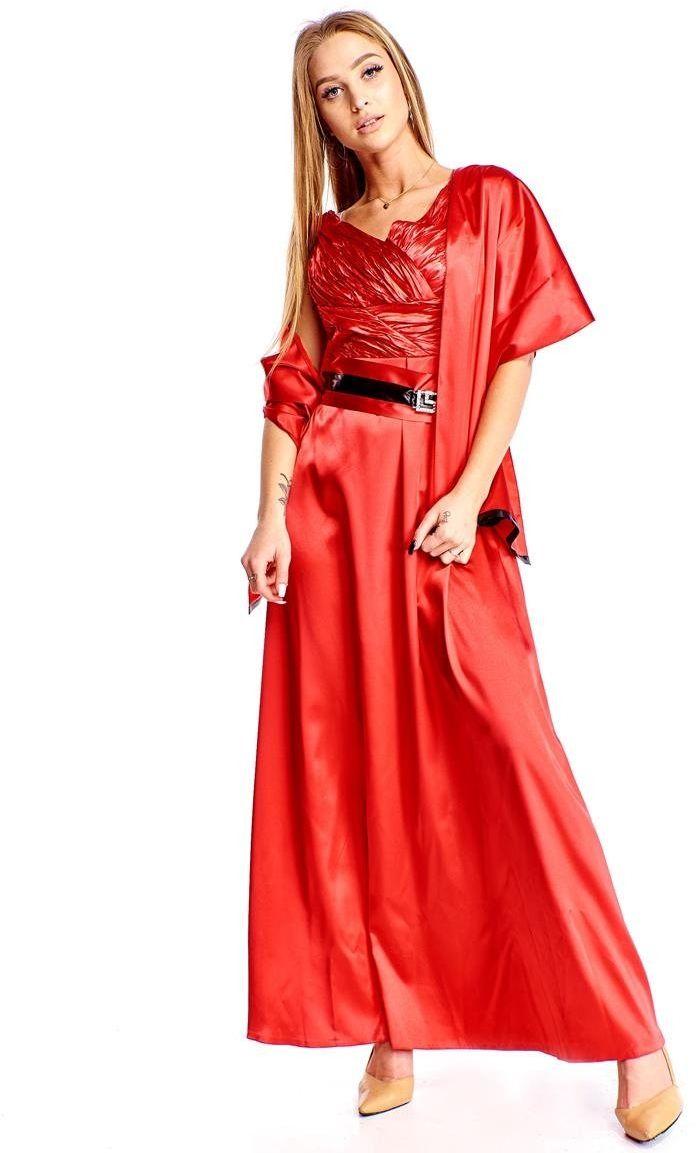 FSU733 Suknie wizytowe Sukienka MALINOWY CUKIERKOWY