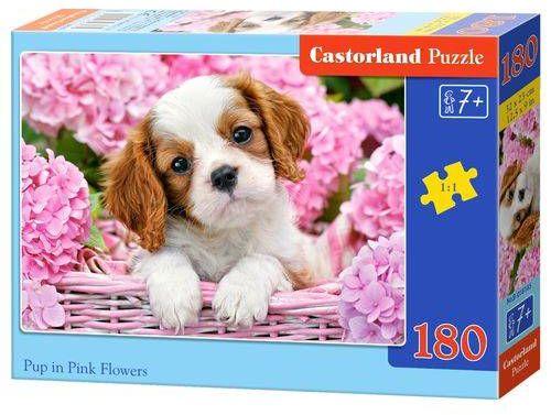 Puzzle 180 Piesek w koszyku B-018185 - CASTOR