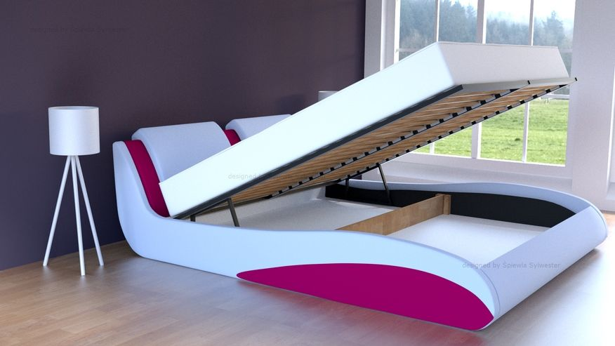 Łóżko Stilo-2 Standard skrzynia na pościel