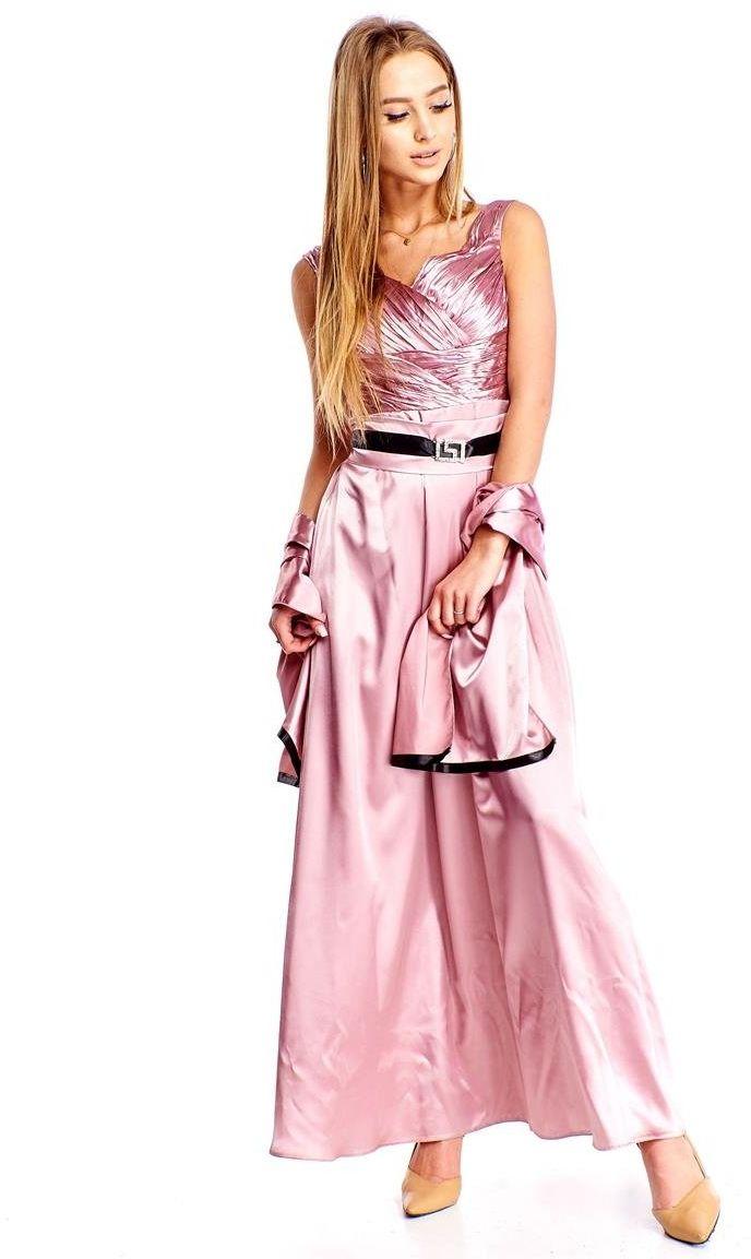 FSU733 Suknie wizytowe Sukienka RÓŻ JASNY