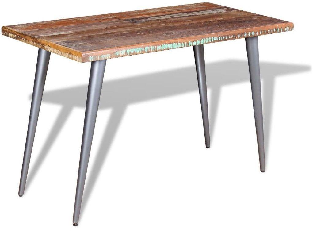 Wielokolorowy stół z drewna z odzysku  Laben