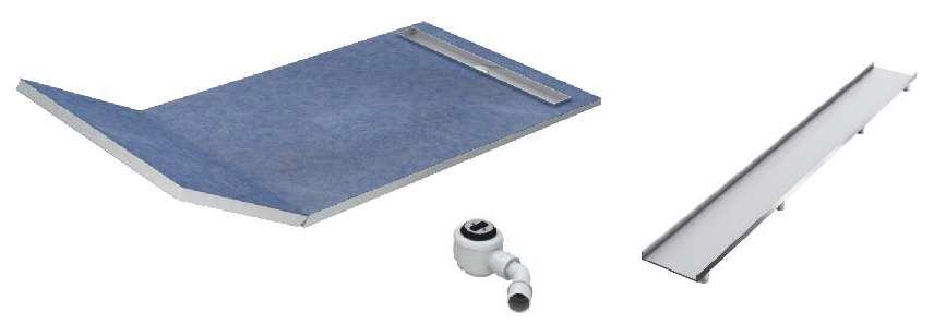 Schedpol brodzik posadzkowy podpłytkowy ruszt Plate 130+50x80x5cm 10.033/OLPL