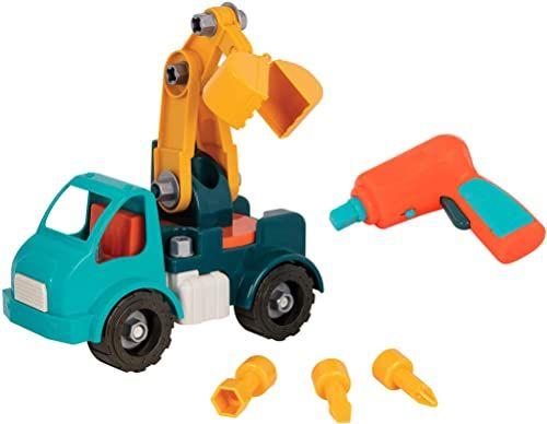 Battat  Samochód do samodzielnego montażu z funkcjonalną wkrętarką akumulatorową  zabawka pedagogiczna dla dzieci od 3 lat (34 części)