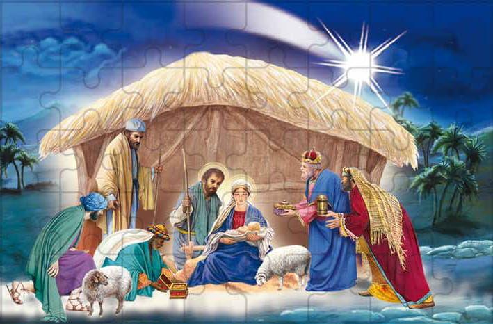 Puzzle religijne na Boże Narodzenie