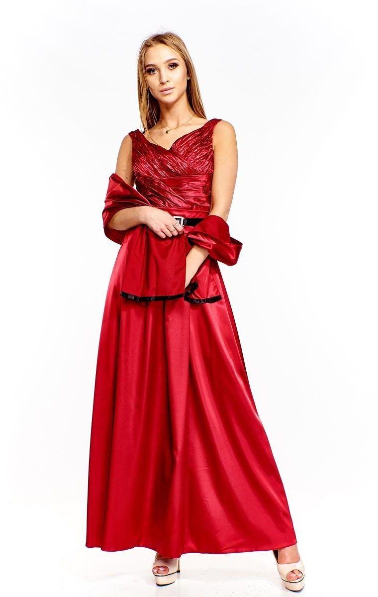 FSU733 Suknie wizytowe Sukienka RUBINOWY
