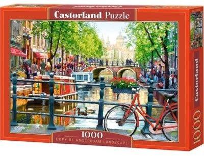 Puzzle Castorland 1000 - Krajobraz Amsterdamu, Amsterdam Landscape