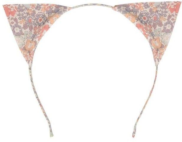 Opaska do Włosów Uszy Kota Kwiatowe