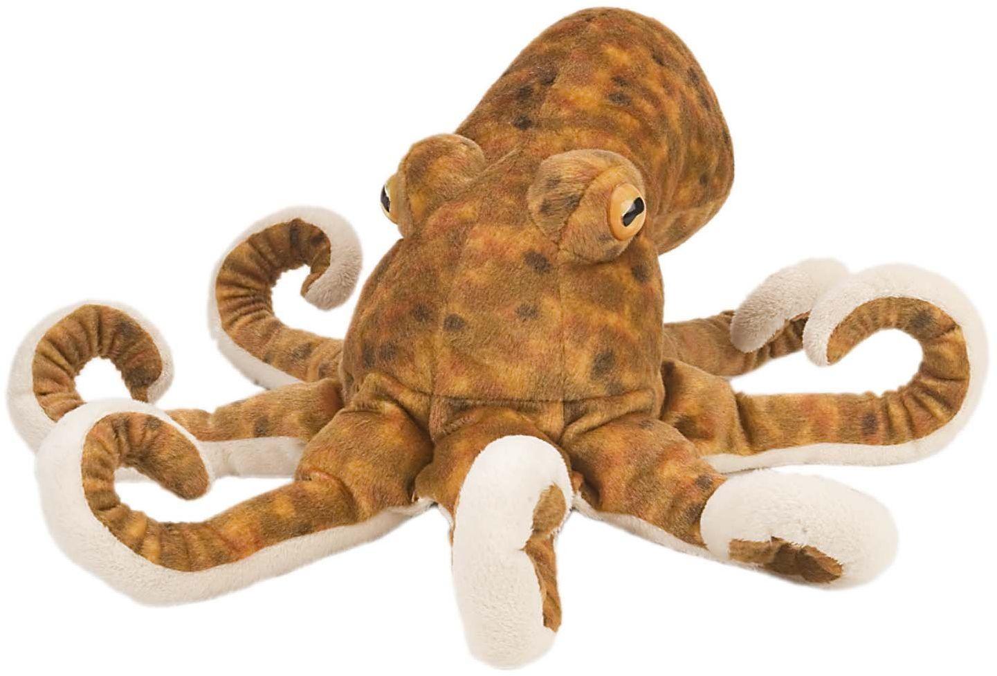 Wild Republic Pluszowa miękka zabawka ośmiornica, zabawki do przytulania, prezenty dla dzieci 30 cm