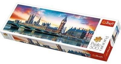 Puzzle TREFL 500 - Big Ben i Pałac Westminsterski, Londyn (panorama)