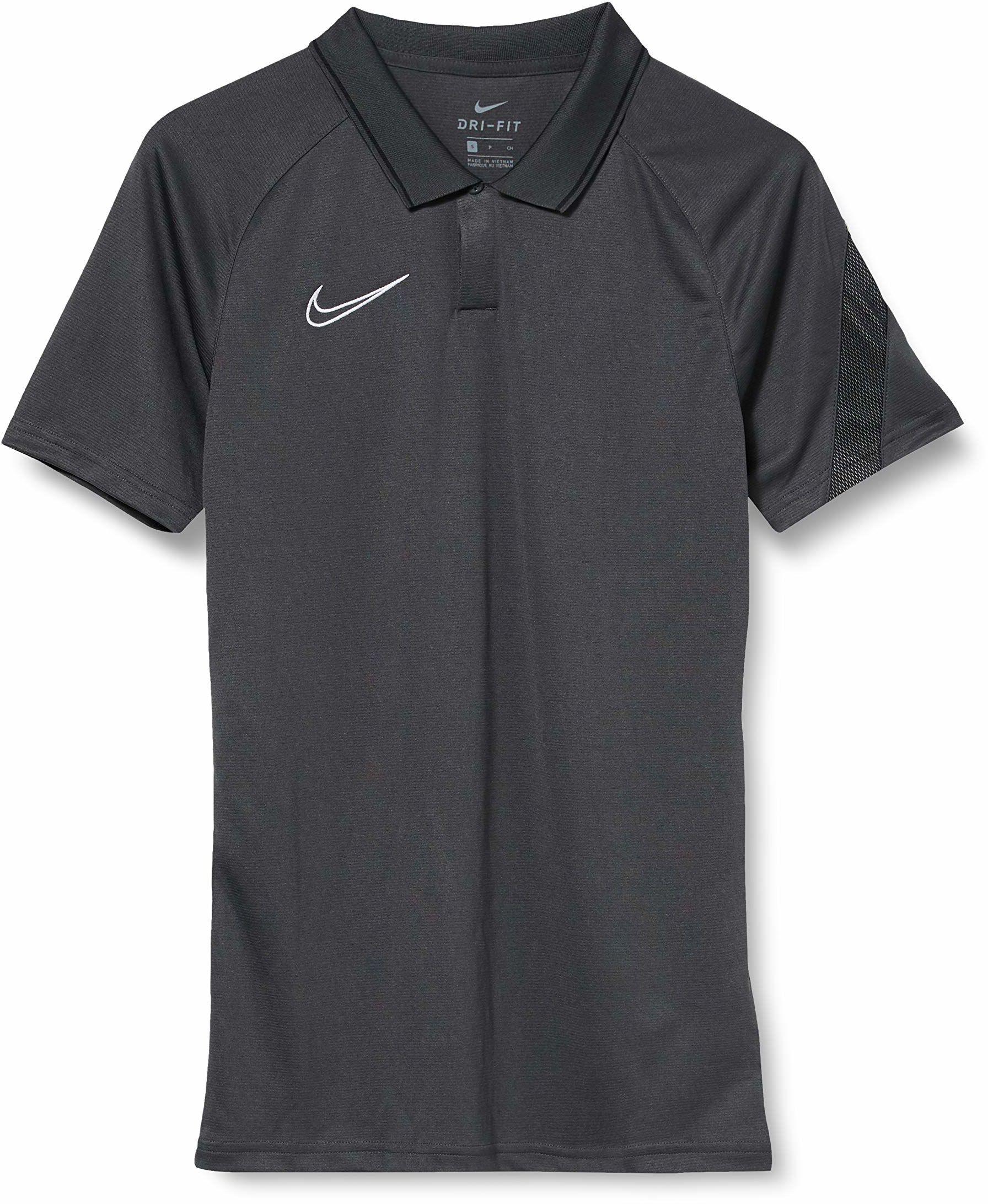 Nike męska koszulka polo Dri-fit Academy Pro Polo szary antracytowy/czarny/biały X-L