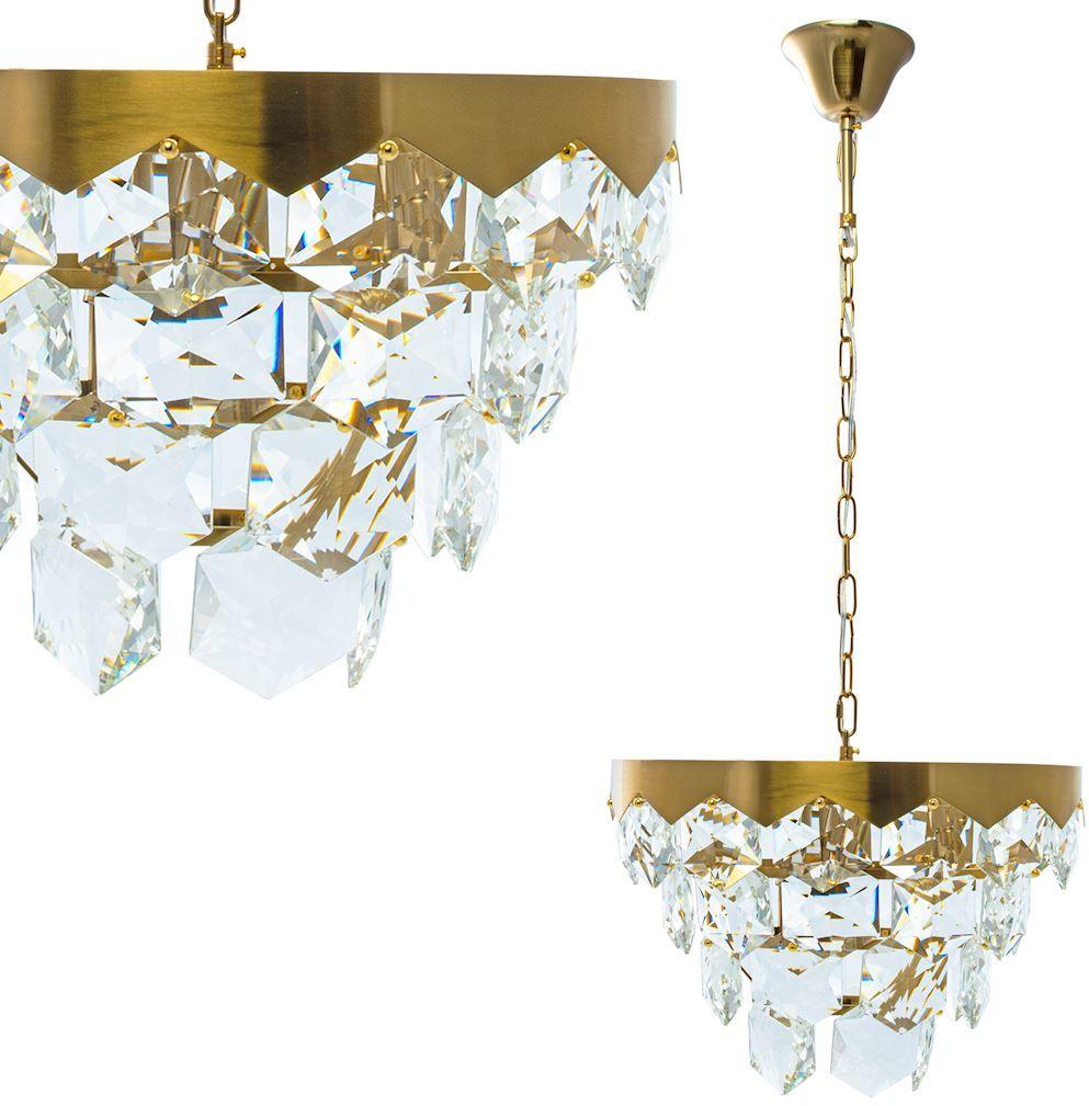 Milagro GRACE GOLD ML5994 żyrandol glamour metal kryształ złoty 6xE14 45cm