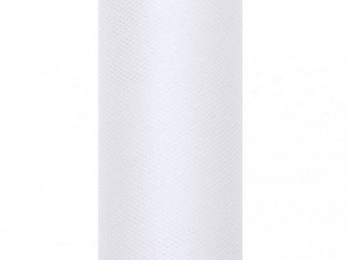 Tiul gładki biały 0,5x9 m, rolka